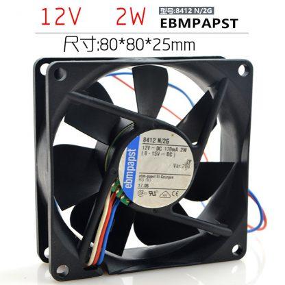 EBM PAPST 8412N/2GH   12V    2W  170mA  fan