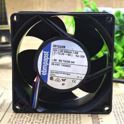 Germany Ebmpapst 3212J/2N 12V 7.6W 9cm 9238 third-tier server  cooling fan