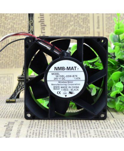 Original NMB 3615RL-05W-B76 9038 24V 1.47A 9CM control speed fan