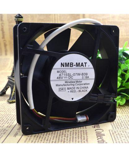 Original NMB 12CM 4715SL-07W-B39 48V 0.18A 3 lines cooling fan