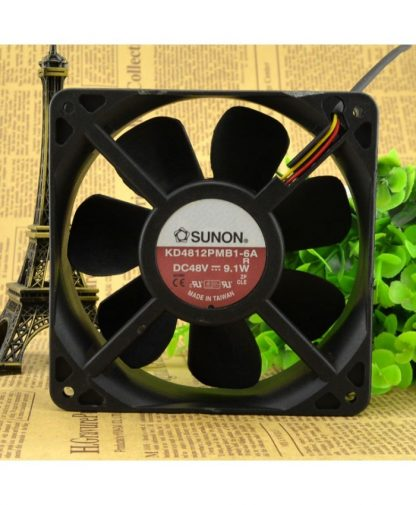 Original SUNON KD4812PMB1-6A 12038 DC48V 9.1W 12CM cooling fan