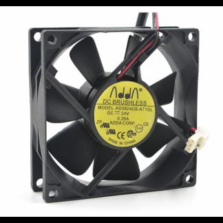 Original ADDA AD0824UB-A71GL 8025 8cm 24V 0.26A fans