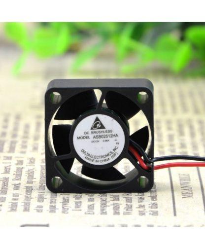 Original DELTA ASB02512HA 12V 0.06A 2 lines 2.5cm fans