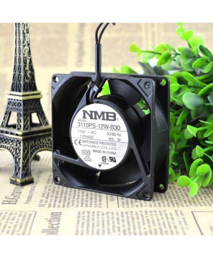 Original NMB 3110PS-12W-B30 115V 6/5W 8025 fan