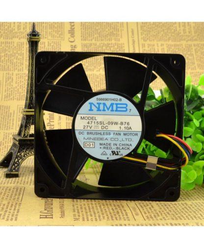 Original NMB 4715SL-09W-B76 27V 1.10A 12038 cooling fan