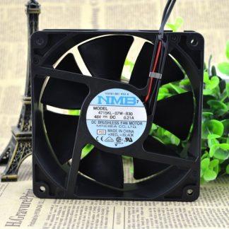 Original NMB-MAT 4715KL-07W-B30 48V 0.21A 12038 12CM control speed fan