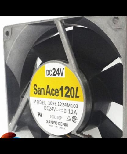 Original SANYO 109E1224M103 120*120*38MM 24V 0.12A fan