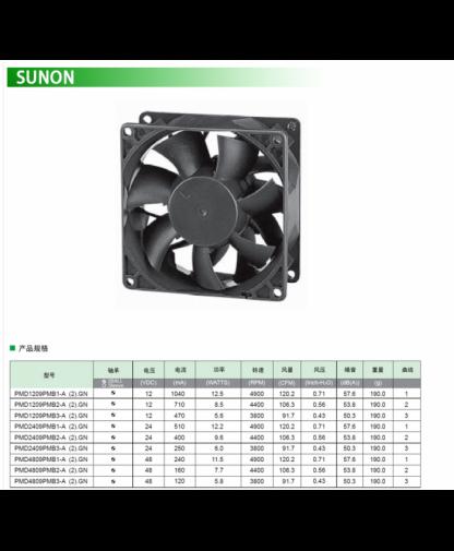 Original SUNON PMD2409PMB1-A DC24V 12.2W 92*92*38MM fan