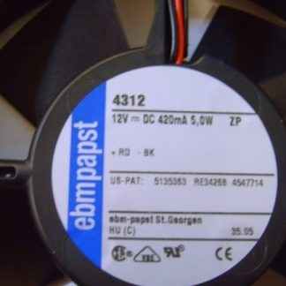 Original ebmpapst 4312 12032 12V cooling fan
