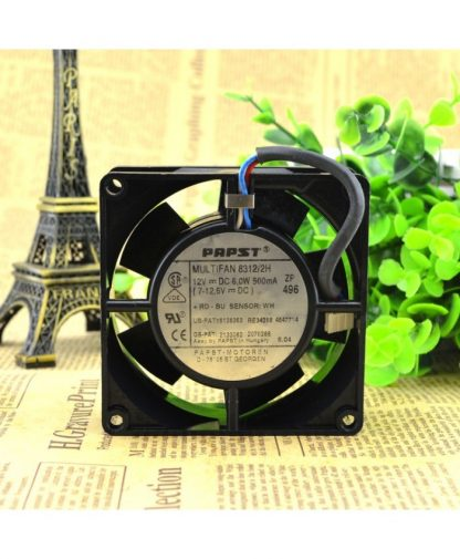 Original PAPST MULTIFAN 8312/2H 12V 6W 0.5A 8032 cooling fan