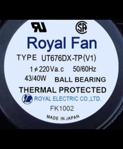 ROYAL FAN UT676DX-TP 24VDC 0.63A 127*127*38MM Fan