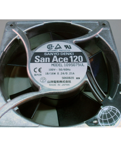 SANYO 12038 109S075UL 100V 50/60Hz 18/16W 0.24/0.21A AC Cooling Fan