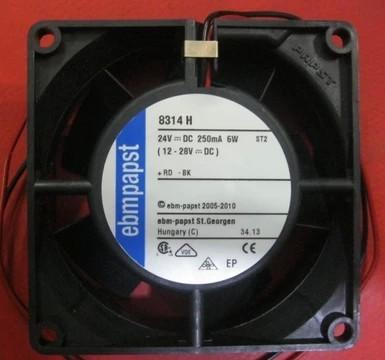 Ebmpapst MULTIFAN 8314H 8032 DC24V 6.0W inverter double ball bearing fan 80*80*32mm