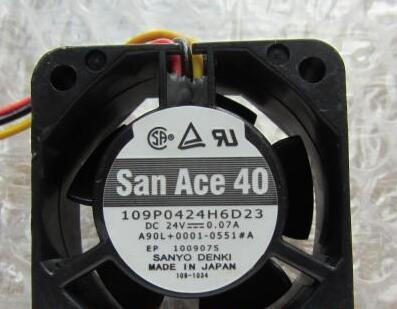 Original Sanyo 109P0424H6D23 24V 0.07A 4020 4cm cooling fans