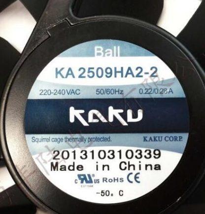 Original    KAKU  CORP  KA2509HA2  220V 240V 0.31A/0.29A  fan