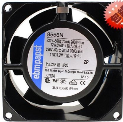 Original ebmpapst 8556N 8038 8cm 230V fan