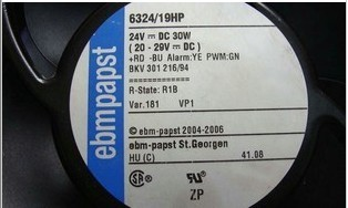 Original ebmpapst 6324/19HP DC24V30W PWM ABB fan