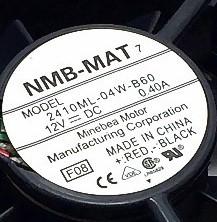 Original  NMB-MAT   2410ML-04W-B60 12VDC 0.40A  60×60×25  fan