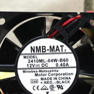 Original  NMB-MAT   2410ML-04W-B60 12VDC 0.40A  60×60×25  fan