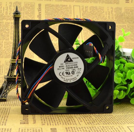 delta 12CM 120*120*38 12V 1A AUC1212DE 4 line PWM mute large volume Case Fan