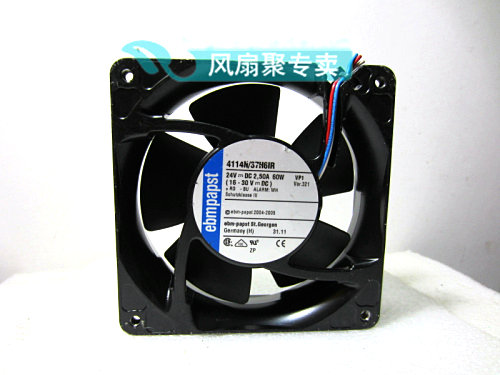 Original German ebmpapst 12cm 12038 4114N/37H6IR 24V 60W Cooling fan