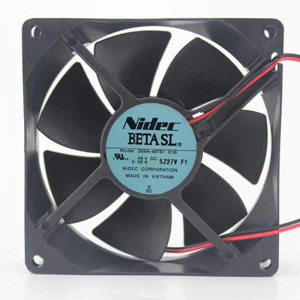 D09A-48TS1 01B 48V 0.09A 9CM 9025 3-wire double-roll muffler fan