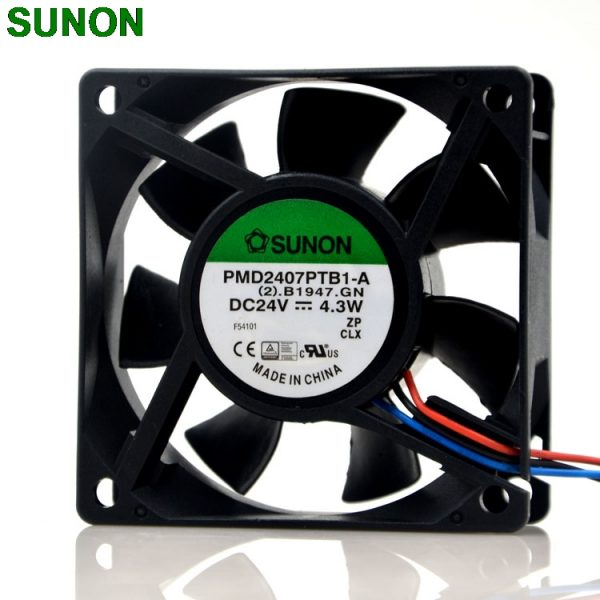 Original SUNON PMD2407PTB1-A 24V 4.3W 7CM 7025 3wire inverter case fan