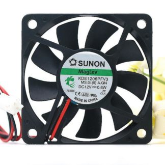 Original SUNON KDE1206PFV3 6010 DC 12V 0.6W 6cm 2-wire Magnetic Levitation Slim Mute Cooling Fan