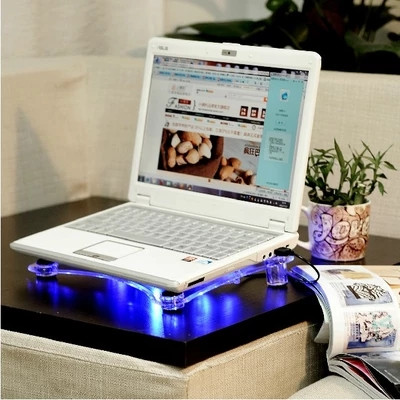 USB Notebook Cooler Cooling laptop Pads 3 Fans for Laptop PC Base Computer Cooling Pad with blue LED light