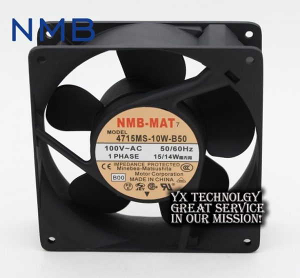 New and Original 4715MS-10W-B50 12038 12v 15w/14w 12cm aluminum frame industrial fan for NMB 120 * 120 * 38 mm