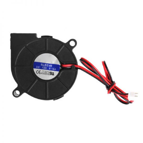 50mmx15mm DC 12V 0.14A 2-Pin Computer PC Sleeve-Bearing Blower Cooling Fan 5015