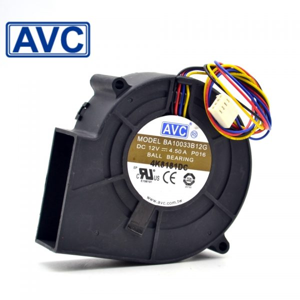 AVC BA10033B12G DC12V 4.5A super violent Blower air dryer exhaust fan
