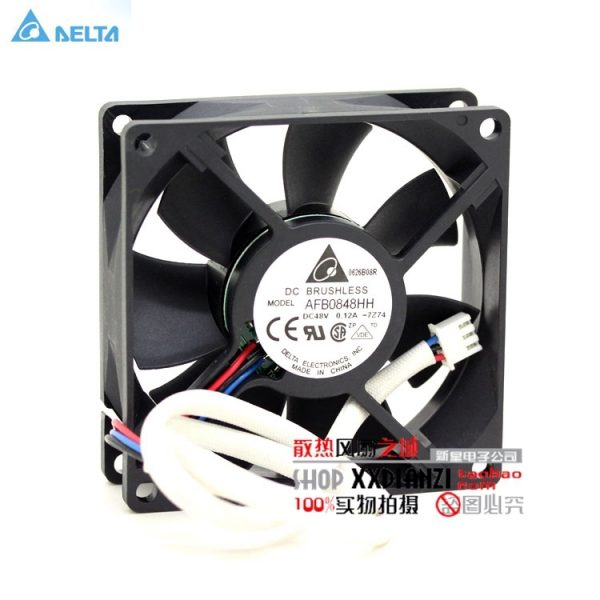 Original DELTA AFB0848HH 8025 8CM 48V 0.12A fan dual ball server