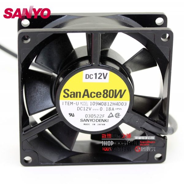 SANYO New Waterproof 109W0812H4D03 12V 0.18A 8025 8cm fan 80*80*25mm