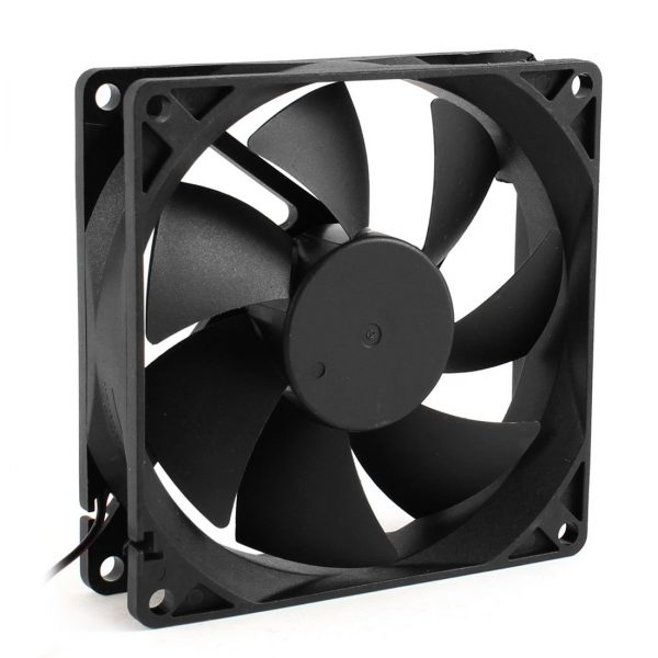 CAA Hot 92mm x 25mm 24V 2Pin Sleeve Bearing Cooling Fan for PC Case CPU Cooler