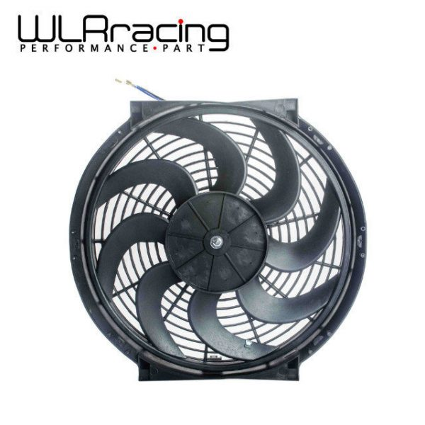 "WLR - 14 Inch Universal 12V 90W Slim Reversible Electric Radiator AUTO FAN Push Pull With mounting kit Type S 14"" WLR-FAN14"
