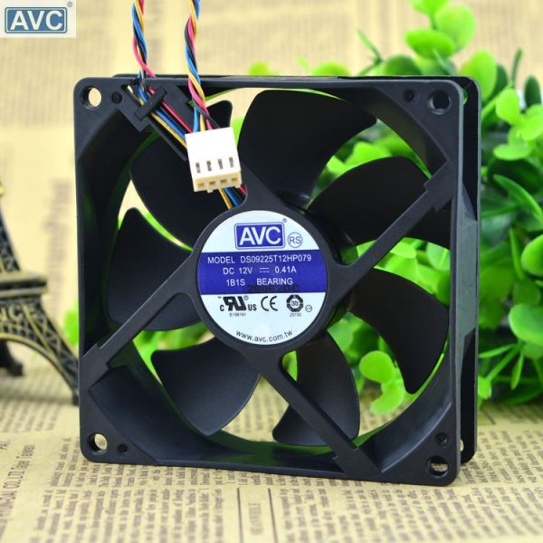 Original AVC DS09225T12HP079 12V 0.41A 9025 4 four-wire PWM CPU fan thermostat AVC