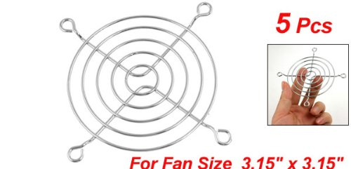 YOC Hot 5 x Axial 80mm CPU Cooling Fan Grill Metal Wire Finger Guards