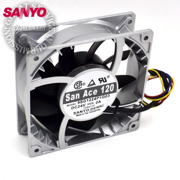 SANYO 9SG1224P1G03 24V 2A 12038 12CM storm strength aluminum frame fan 120*120*38mm