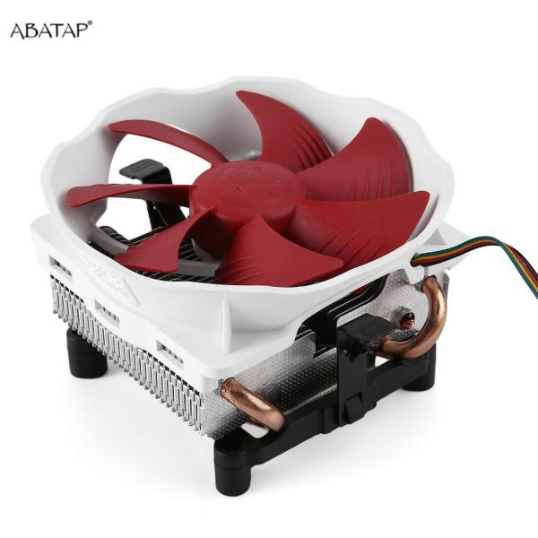 Low Noise Quiet PC Cooler CPU Cooling Fan High Airflow Aluminum Computer CPU Radiator 120mm Cooling Fan Copper Heatpipes V6