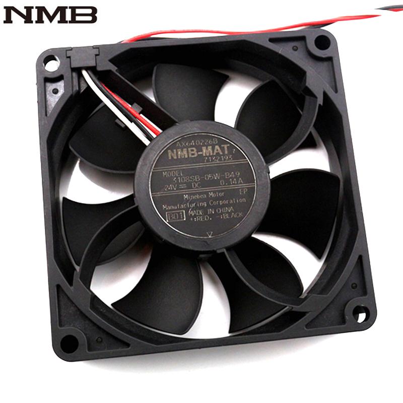 For NMB fan 3108SB-05W-B49 8CM 8020 808020mm DC 24V 0.14A three line axial cooling fan