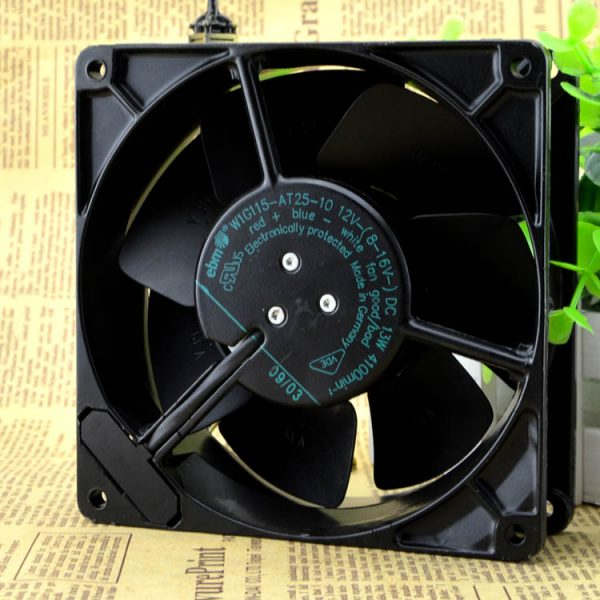 Free Delivery. W1G115 AT25-10 13 w 12 v 12738 13 cm all metal high temperature fan line 3