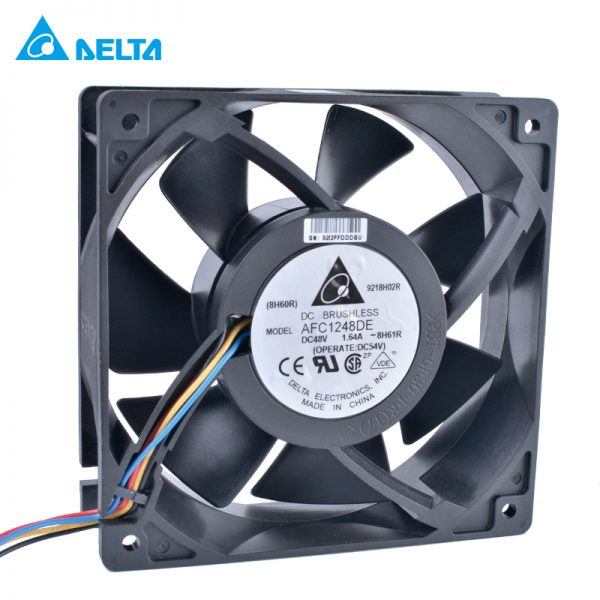 DELTA AFC1248DE 12cm 120mm 12038 120x120x38mm 48V 1.64A 4 wire 4pin double ball bearing large air volume server cooling fan