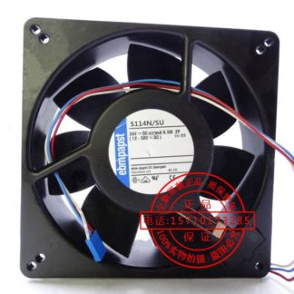 Original ebmpapst 5114N/SU 24V 9.5W three-wire all-metal high temperature fan