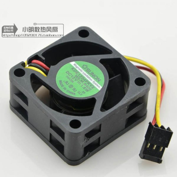 KDE1204PKVX MS.M.B400 Free Shipping DC12V 1.6W Cooling Fan For SUNON KDE1204PKVX MS.M.B400 Server Square Fan 40x40x20mm 3-Wire