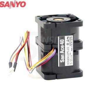 Original Sanyo 9CRA0412P5J22 DC 12V 1.4A 4056 4CM 40mm 1U case server inverter axial cooling fans cooler