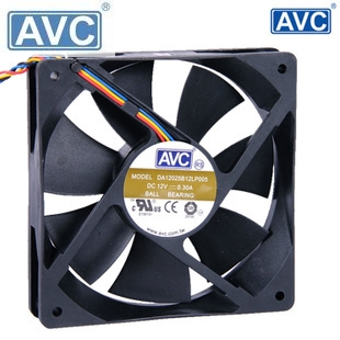 AVC DA12025B12L 12cm 12*12 120*120*25MM 12025 1225 12V 0.3A 4Pin Speed control PC Case Cooling Fan
