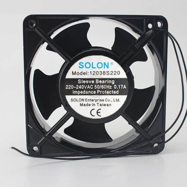 For SOLON 12cm Cabinet cooling fan 12038S220 0.12A 220V