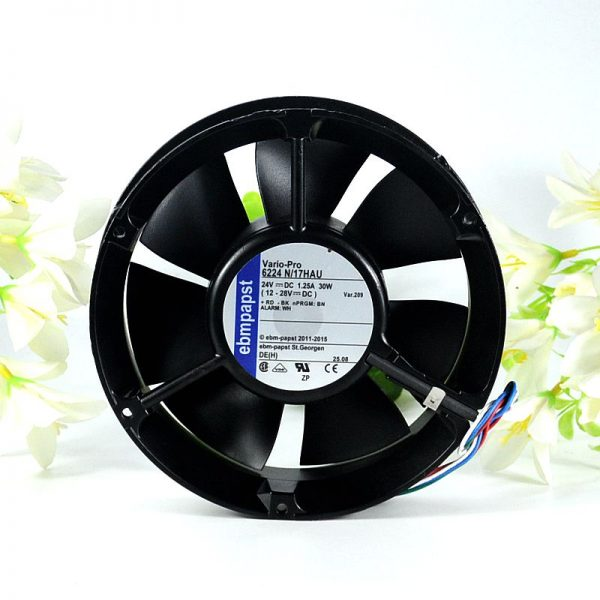 ebmpapst 6224 N/17HAU 6224N/17HAU DC 24V 1.25A 172x172x51mm Server Round fan