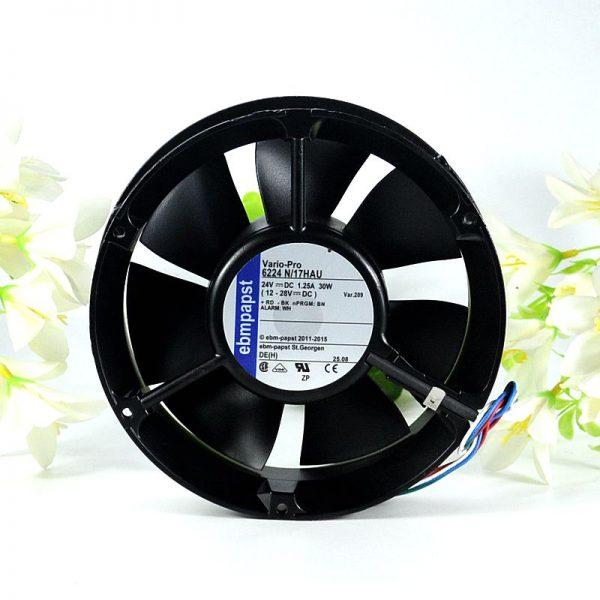 ebmpapst 6224 N/17HAU 6224N/17HAU DC 24V 1.25A 172x172x51mm Server Round fan